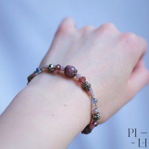 2/50$ bracelet natural purple mica gemstones